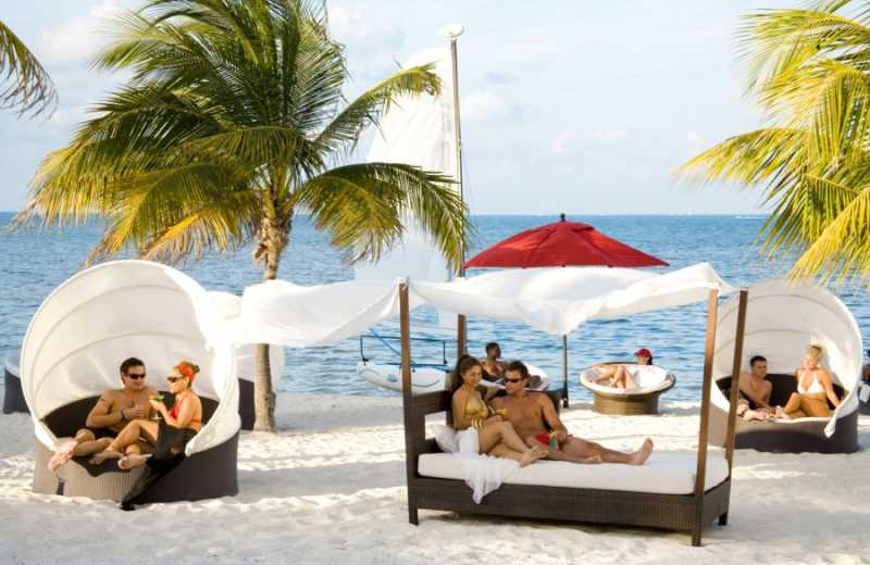 Lounges and Beach Beds at Temptation Resort Spa