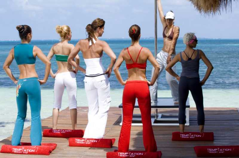 Sensual Fitness is just one of the many daytime activities at Temptation Resort Spa