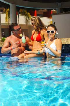 Relaxing in the pool at Temptation Resort Spa Cancun